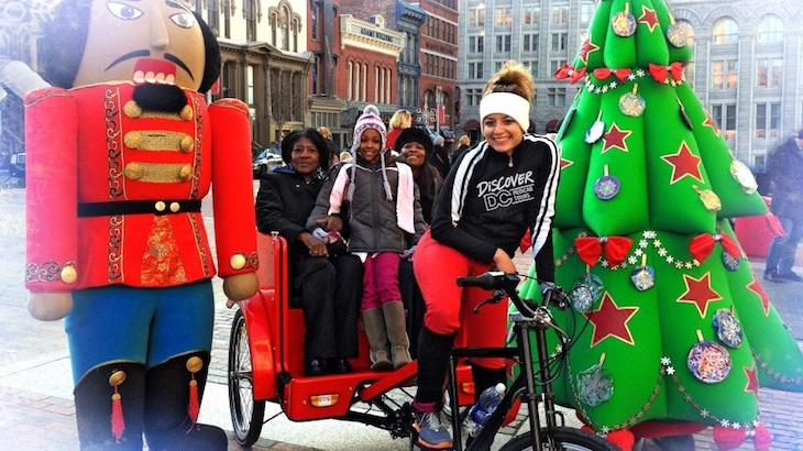 (Last Call) Festival of Lights Pedicab Tour around DC Christmas Decorations