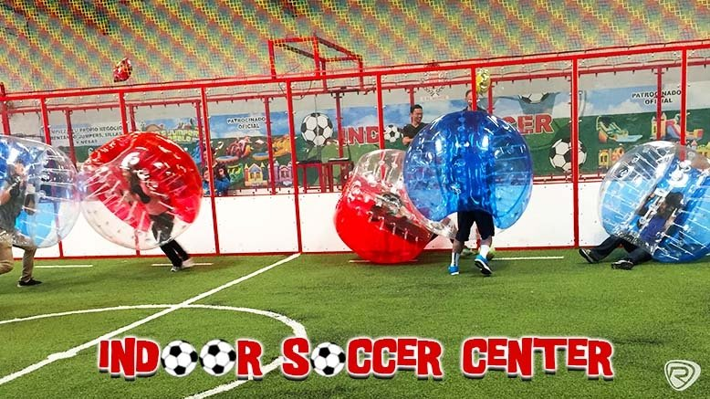 1 Hour of Bubble Soccer and Indoor Facility Rental for up to 10 Players