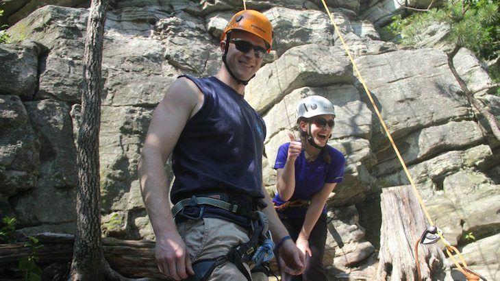 4-hour Beginning Rock Climbing class for one
