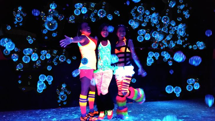 One Admission to the Blacklight Bubble Party 5K