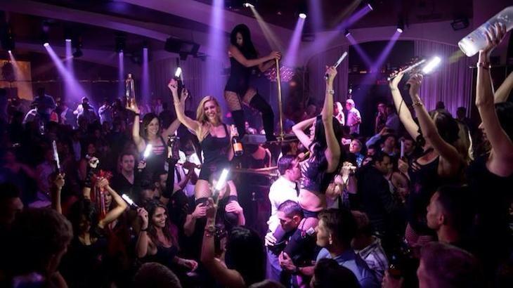 A VIP Las Vegas party bus club crawl for one