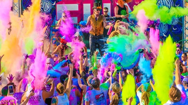 1 Color Fun Fest 5k Day Entry