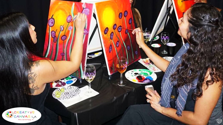 Paint and Complimentary Wine for 1