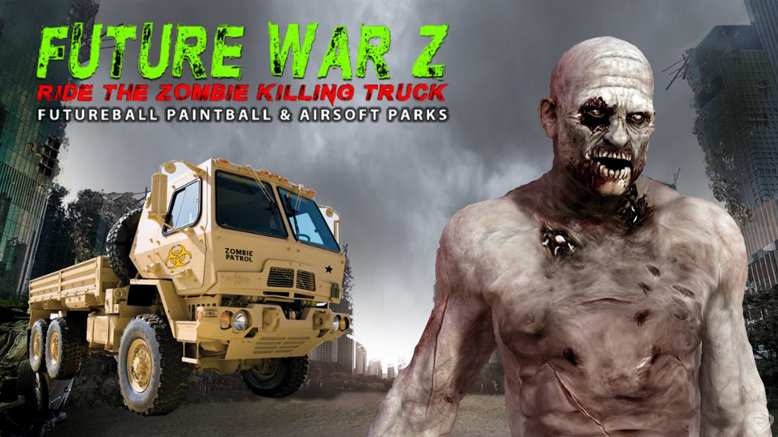 Zombie Killing Truck Paintball Attraction for 1