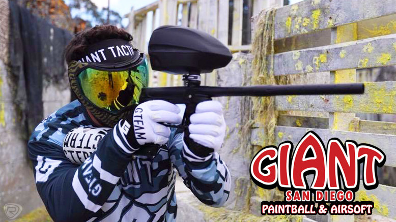 Paintball Package with gun rental, initial air, and 200 paintballs for 1