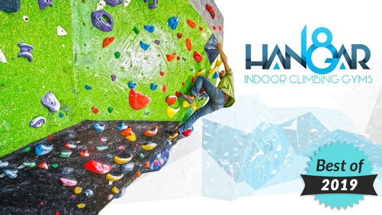 Two Intro to Rock Climbing Classes at Hangar 18 (Includes Gear Rental)