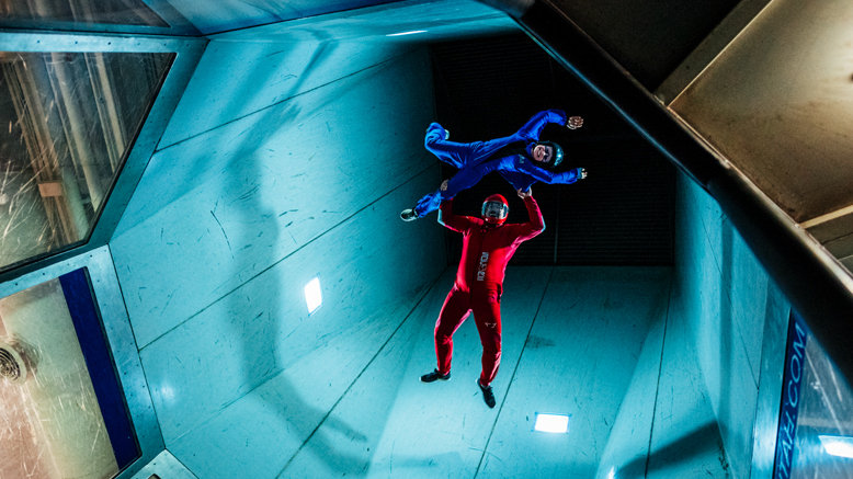 Indoor skydiving, surfing, & rock climbing for 1: iFLY first flight ticket and one-hour Flowride and iRock session
