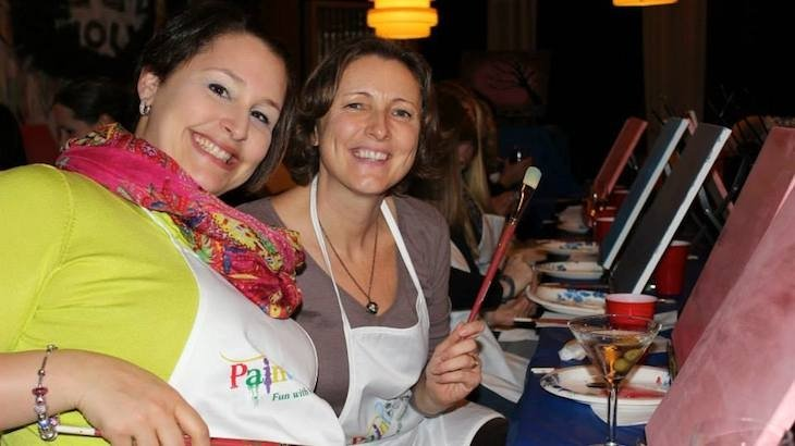 Paint social art boston discount tickets deal rush49 for Rush49 paint nite