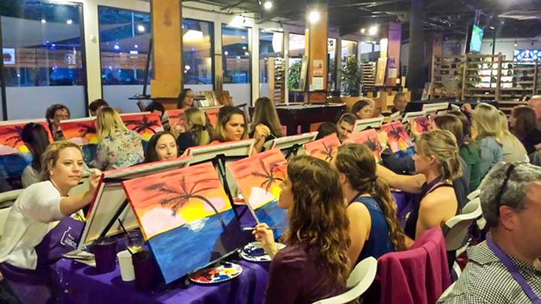 One Admission to a Paints Uncorked's painting event