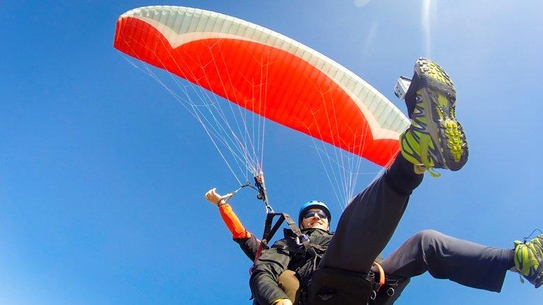 One Tandem Paraglider Flight