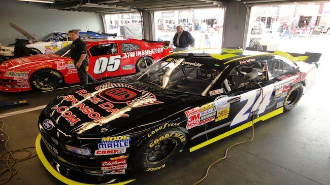 One NASCAR Nationwide Package with Decal on Car and Complimentary Garage & Pit Pass