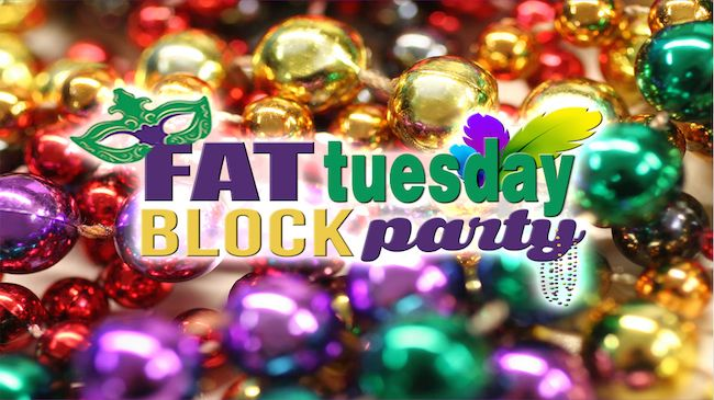 One Mardi Gras Package to Fat Tuesday Block Party