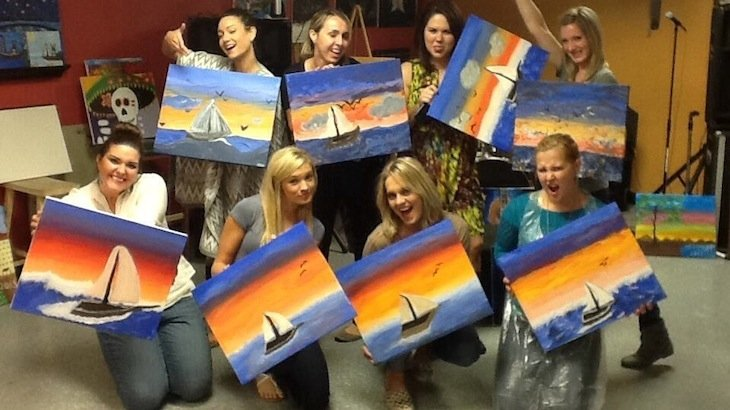 Vintages art studio discount tickets deal rush49 for Rush49 paint nite