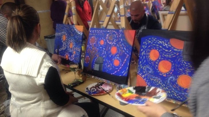 Vintages art studio discount tickets deal rush49 for Wine and paint san antonio