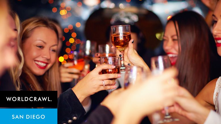 Ticket with VIP Club Access, Appetizers, and Drinks with World Crawl San Diego