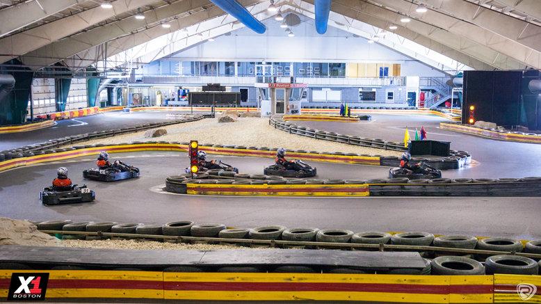 Indoor Kart Race & 1-Day Kart License - X1 Boston Location