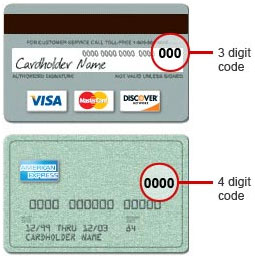 Remember For Visa Mastercard And Discover The  Digit Number Is On The Back Of The Card And For American Express The  Digit Number Is On The Front Of